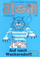 Atom, Nr. 6, Oktober/November 1985: Augf nach Wackersdorf