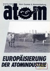 Atom, Nr. 27, September 1989; Schwerpunkt: Europeisiering; PKA Gorleben; Kermforschungszentrum Karlsruhe; Schewerpunkt: Radikale Linke, Autonome & Co