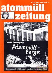 Atommuellzeitung 21, November 1982