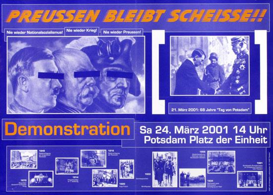 Plakat: Preussen bleibt scheisse!! (2001)