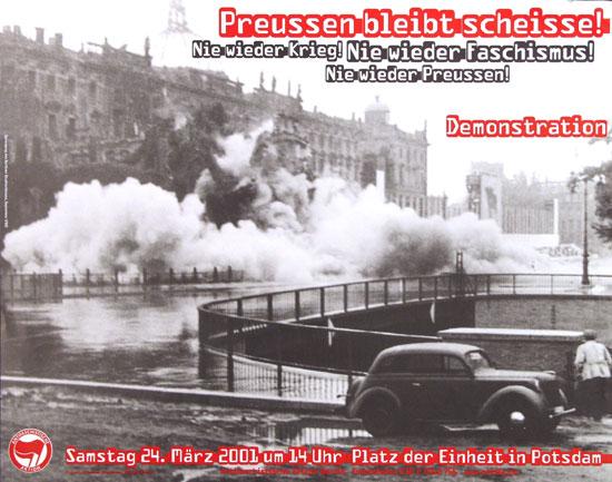 Plakat: Preussen bleibt scheisse! (2001)