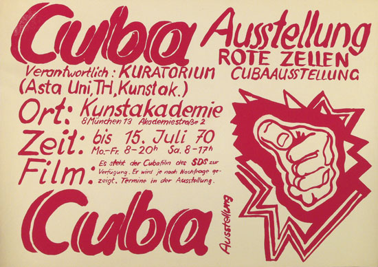 Plakat: Cuba_Ausstellung der Roten Zellen