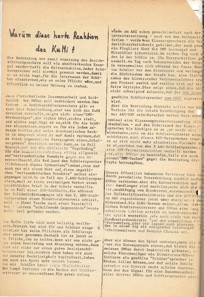 Roter Weg _ Organ der Roten Schülerfront, Extra, Jan. 1973, Seite 2