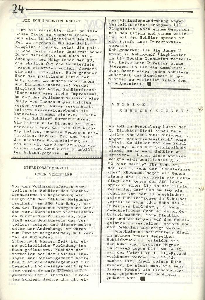 Roter Weg _ Organ der Roten Schülerfront, Nr. 5, 1973, Seite 24