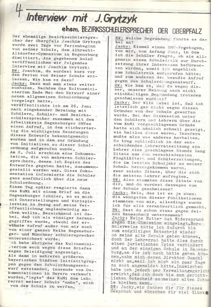 Roter Weg _ Organ der Roten Schülerfront, Nr. 8, München 1973, Seite 4