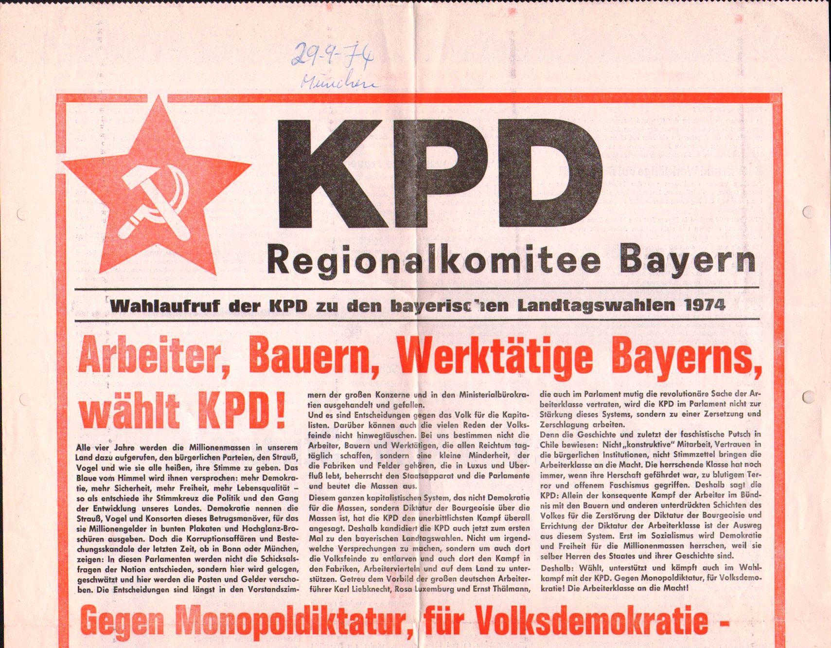Bayern_KPDAO_1974_Wahlaufruf_01