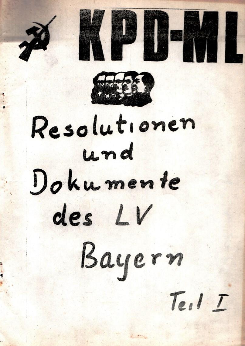 Bayern_KPDML_1971_Resolutionen_und_Dokumente_001