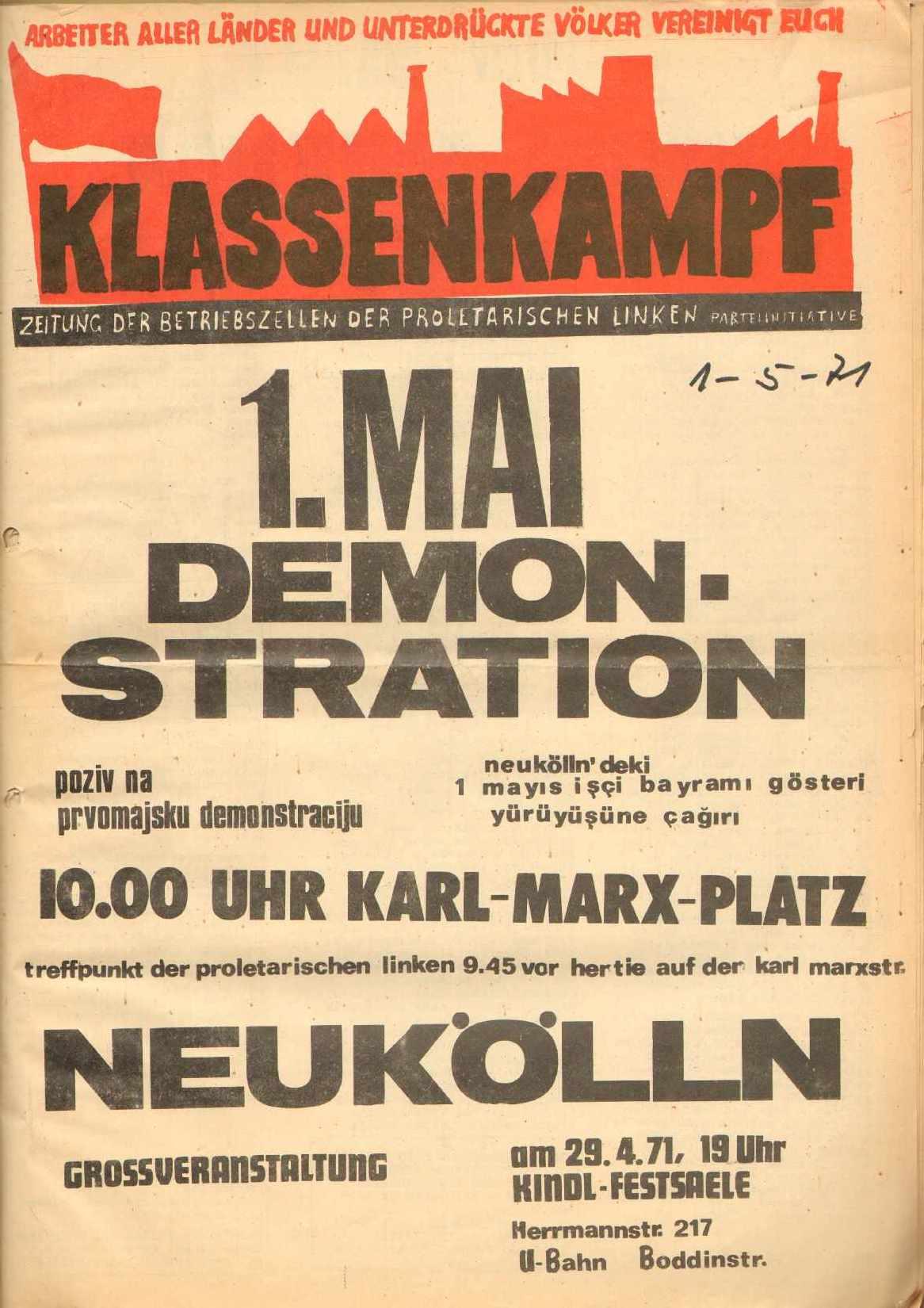 Berlin_Klassenkampf_1971_Mai_01