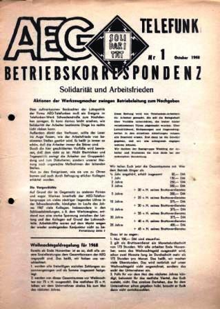 AEG_Telefunken _ Betriebskorrespondenz, Nr. 1, Berlin, Oktober 1968