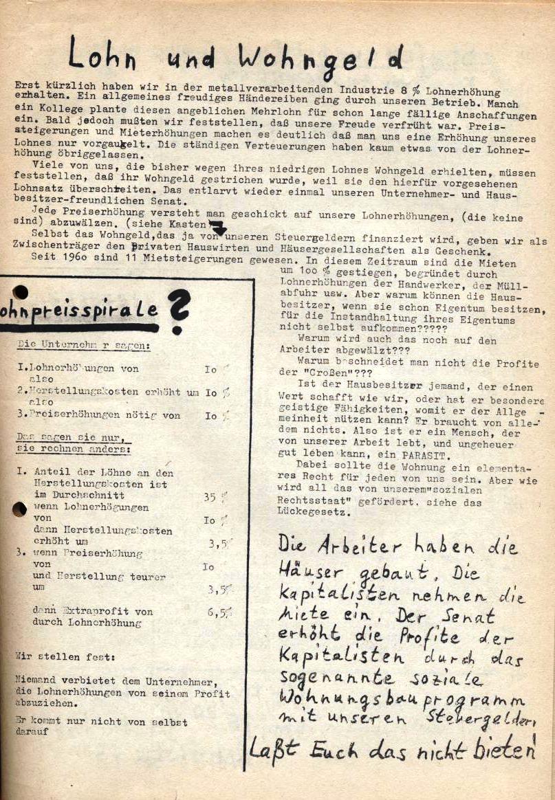 Borsig_Anzeiger, hrsg. von der Betriebsgruppe Borsig in der Basisgruppe Tegel, Nr. 2, November 1969, S. 3