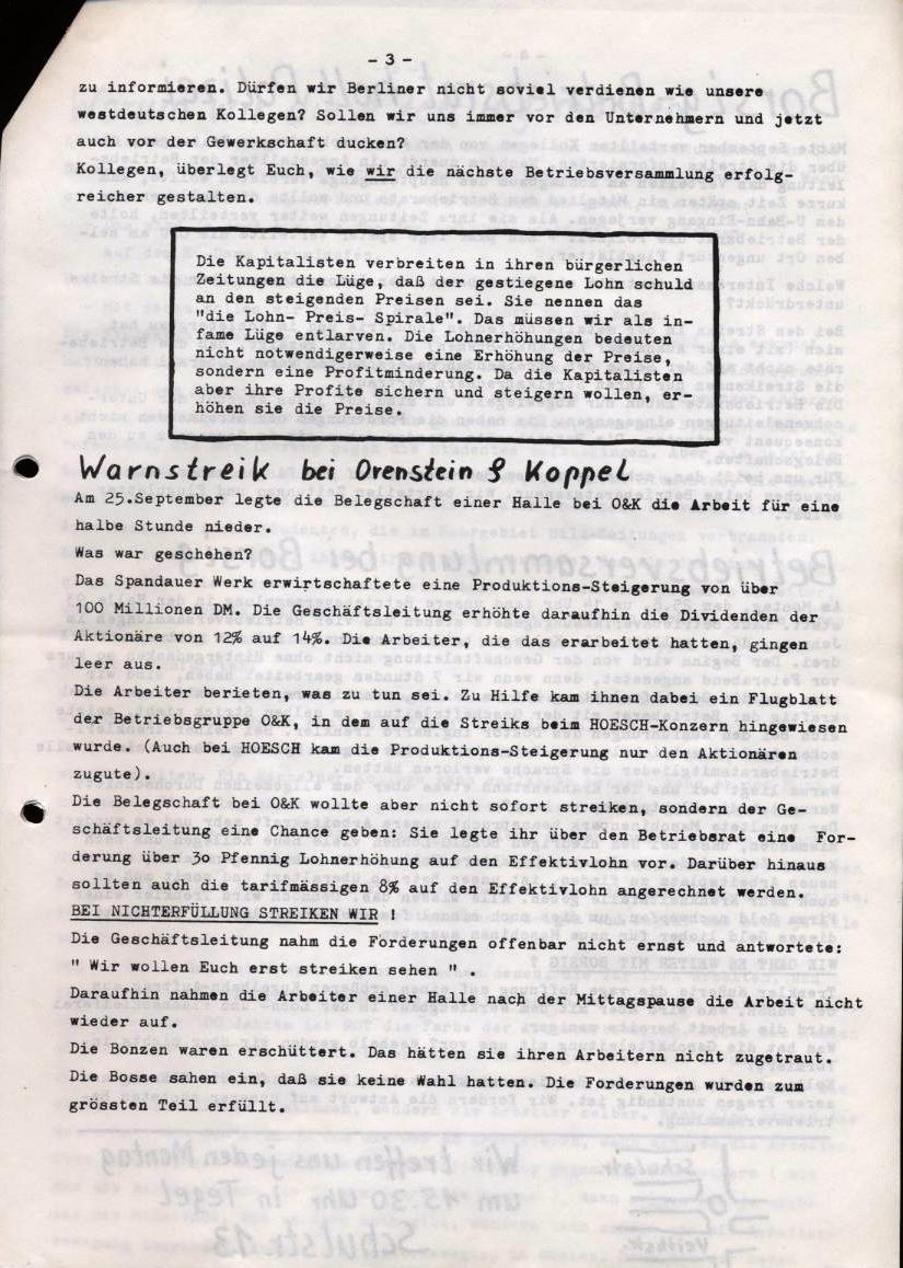Borsig_Anzeiger, hrsg. von der Betriebsgruppe Borsig in der Basisgruppe Tegel, Nr. 1, Oktober 1969, S. 3
