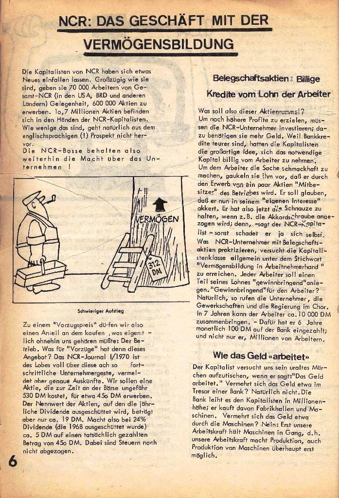 Ausschnitt aus: Die Sache der Arbeiter, Nr. 2, März/April 1970, Seite 6