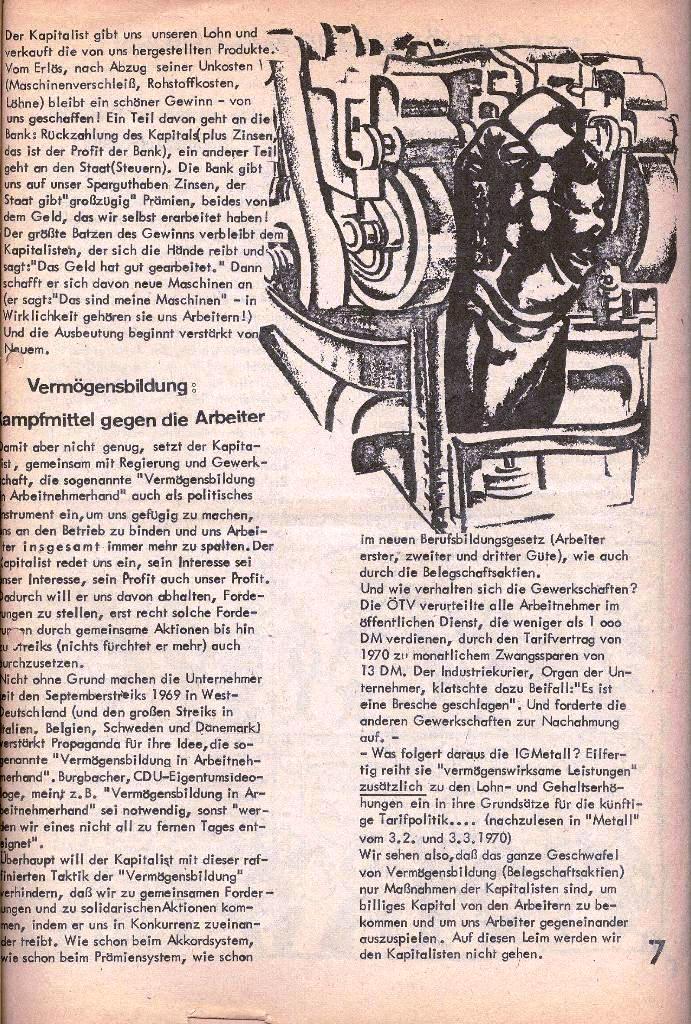 Ausschnitt aus: Die Sache der Arbeiter, Nr. 2, März/April 1970, Seite 7