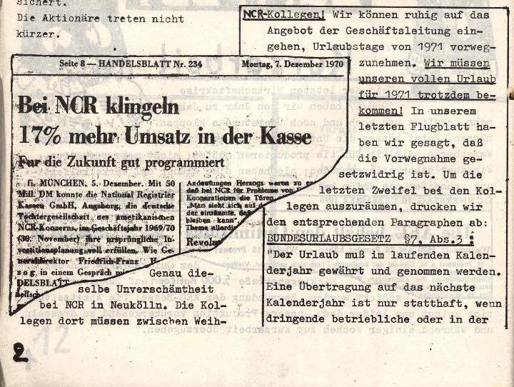 Ausschnitt aus: Die Sache der Arbeiter, Nr. 6, Nov./Dez. 1970, Seite 2