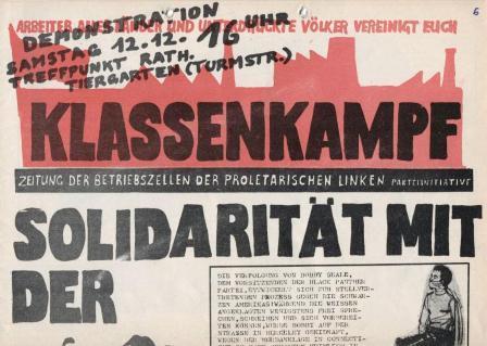 Klassenkampf _ Zeitung der Betriebszellen der Proletarischen Linken Parteiinitiative