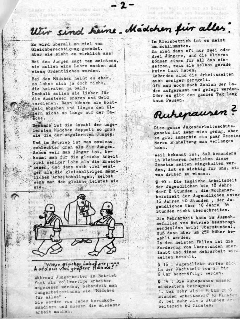 Hexenschuß _ Berufsschulzeitung für Mädchen, März 1971, Seite 2