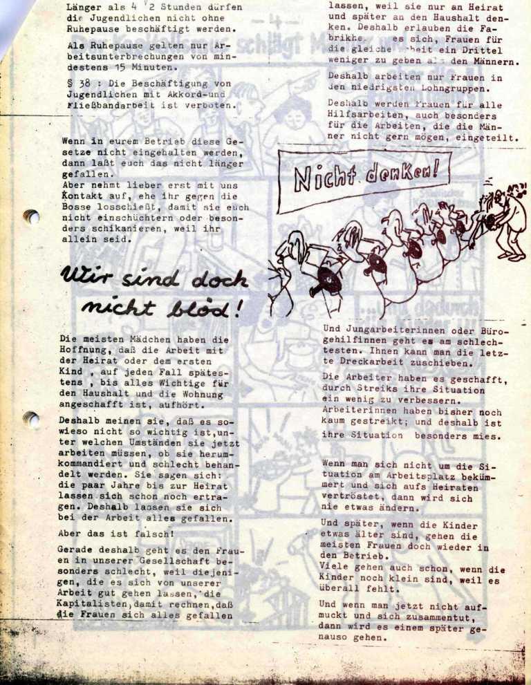 Hexenschuß _ Berufsschulzeitung für Mädchen, März 1971, Seite 3