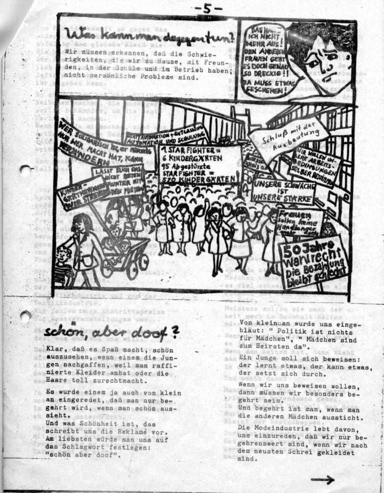 Hexenschuß _ Berufsschulzeitung für Mädchen, März 1971, Seite 5
