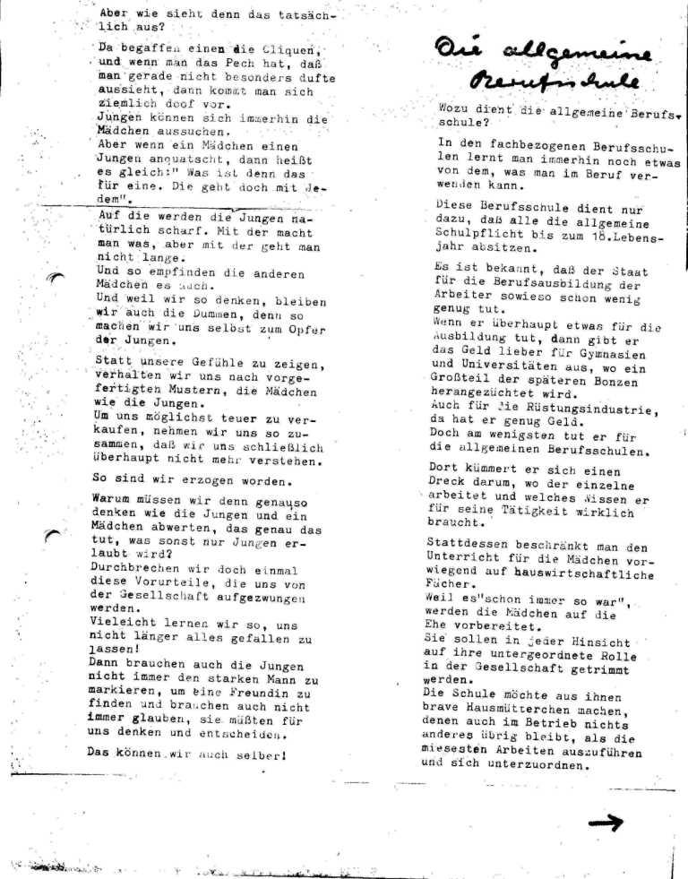 Hexenschuß _ Berufsschulzeitung für Mädchen, März 1971, Seite 7