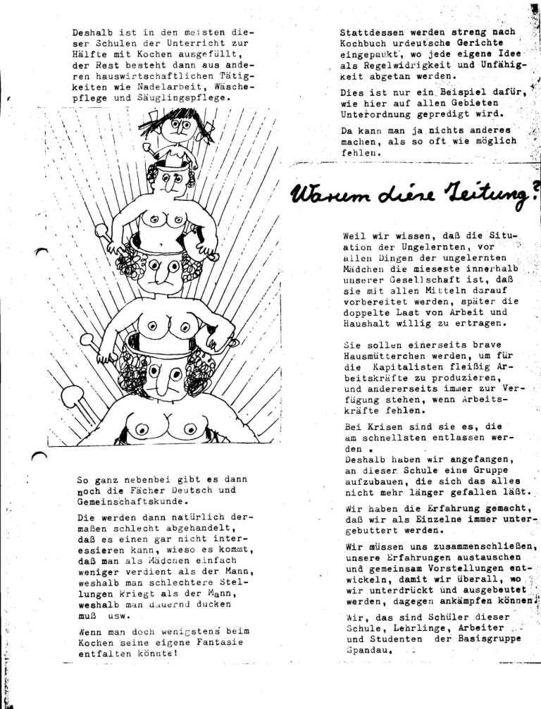 Hexenschuß _ Berufsschulzeitung für Mädchen, März 1971, Seite 8