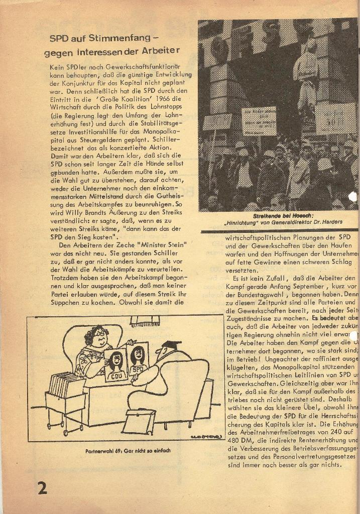 Die Sache der Arbeiter, Nr. 1, Dez./Jan. 1969/70, Seite 2