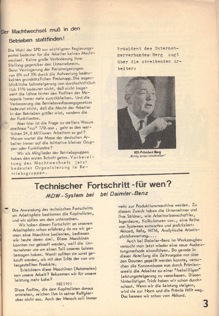 Die Sache der Arbeiter, Nr. 1, Dez./Jan. 1969/70, Seite 3