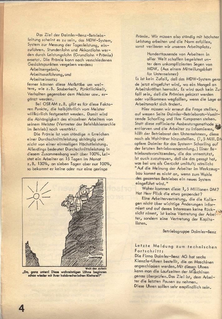Die Sache der Arbeiter, Nr. 1, Dez./Jan. 1969/70, Seite 4