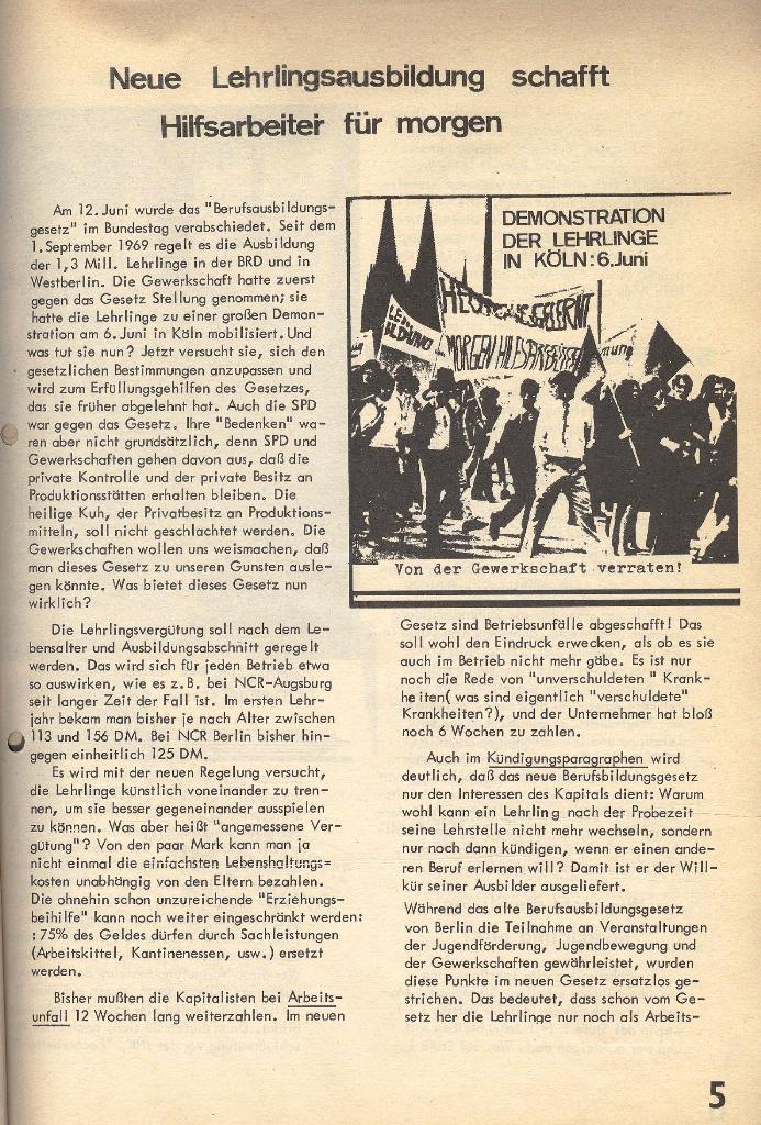 Die Sache der Arbeiter, Nr. 1, Dez./Jan. 1969/70, Seite 5