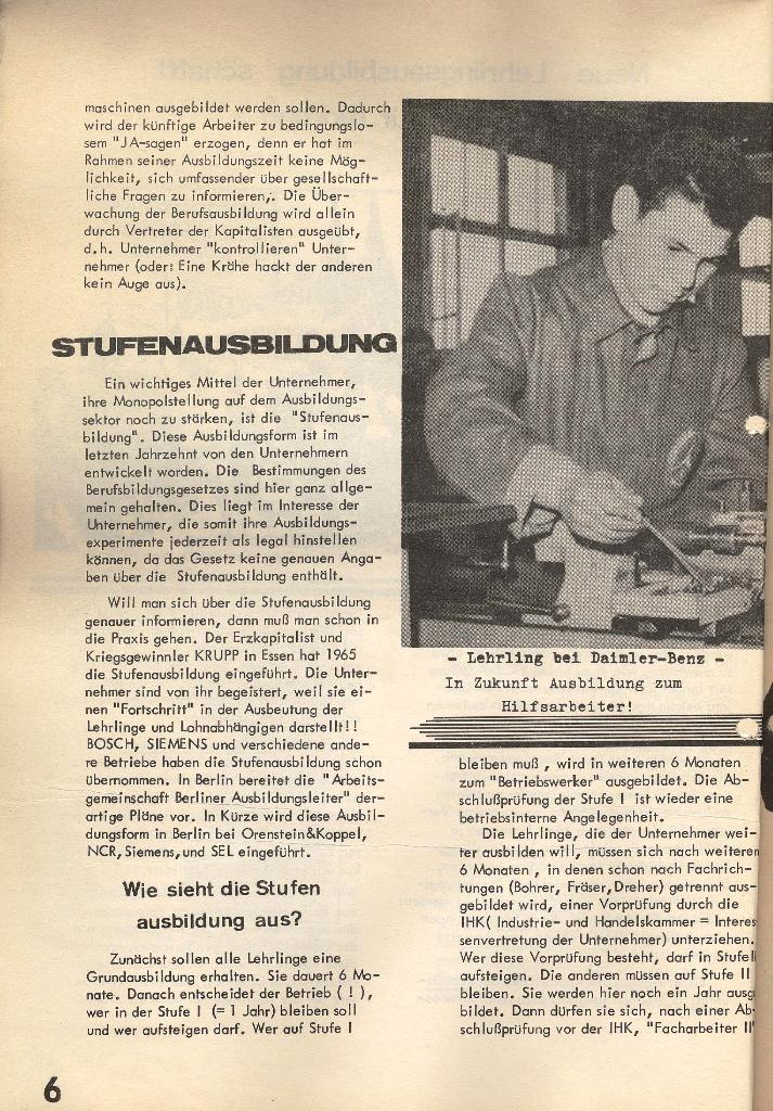 Die Sache der Arbeiter, Nr. 1, Dez./Jan. 1969/70, Seite 6