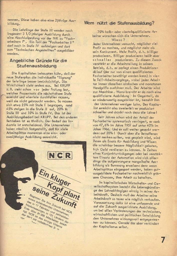 Die Sache der Arbeiter, Nr. 1, Dez./Jan. 1969/70, Seite 7