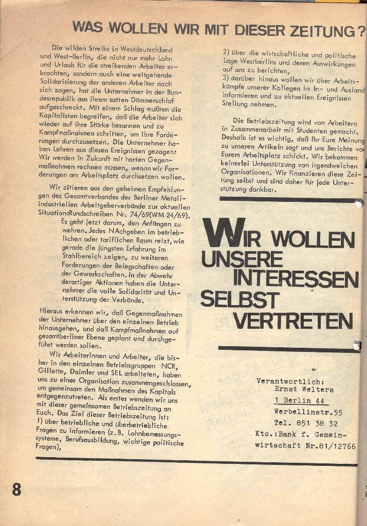Die Sache der Arbeiter, Nr. 1, Dez./Jan. 1969/70, Seite 8
