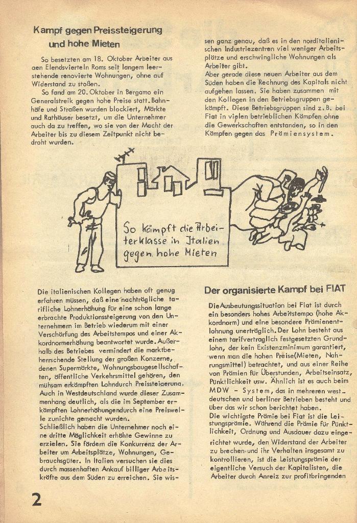 Die Sache der Arbeiter, Nr. 2, März/April 1970, Seite 2