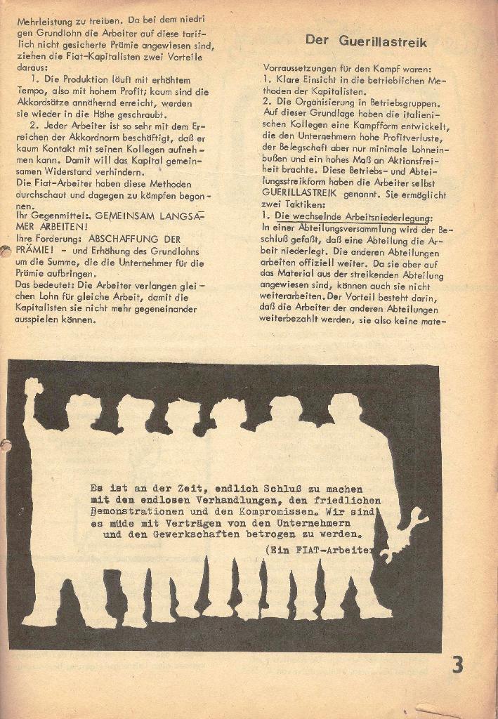 Die Sache der Arbeiter, Nr. 2, März/April 1970, Seite 3