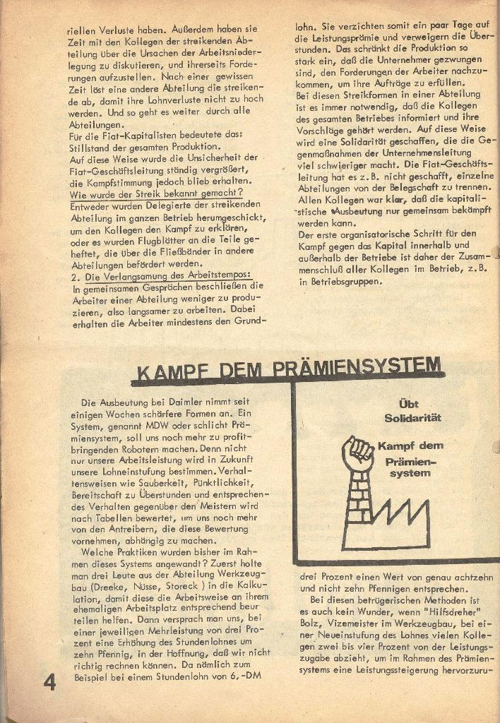 Die Sache der Arbeiter, Nr. 2, März/April 1970, Seite 4
