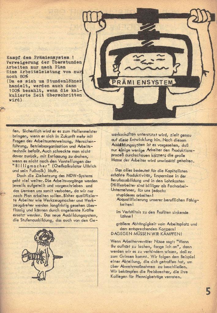 Die Sache der Arbeiter, Nr. 2, März/April 1970, Seite 5