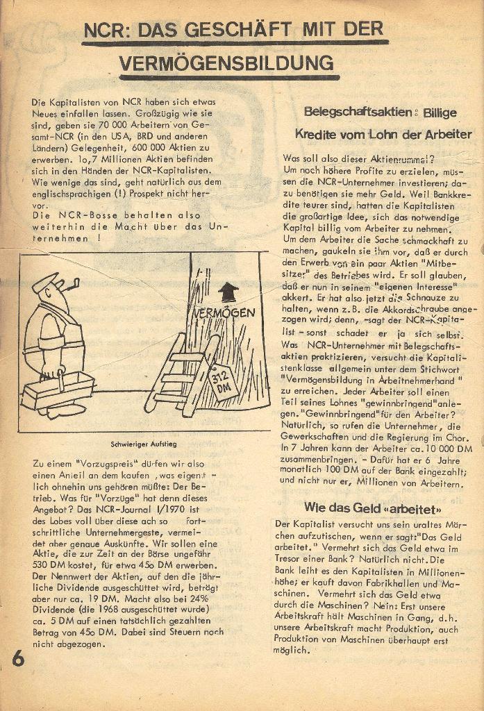 Die Sache der Arbeiter, Nr. 2, März/April 1970, Seite 6