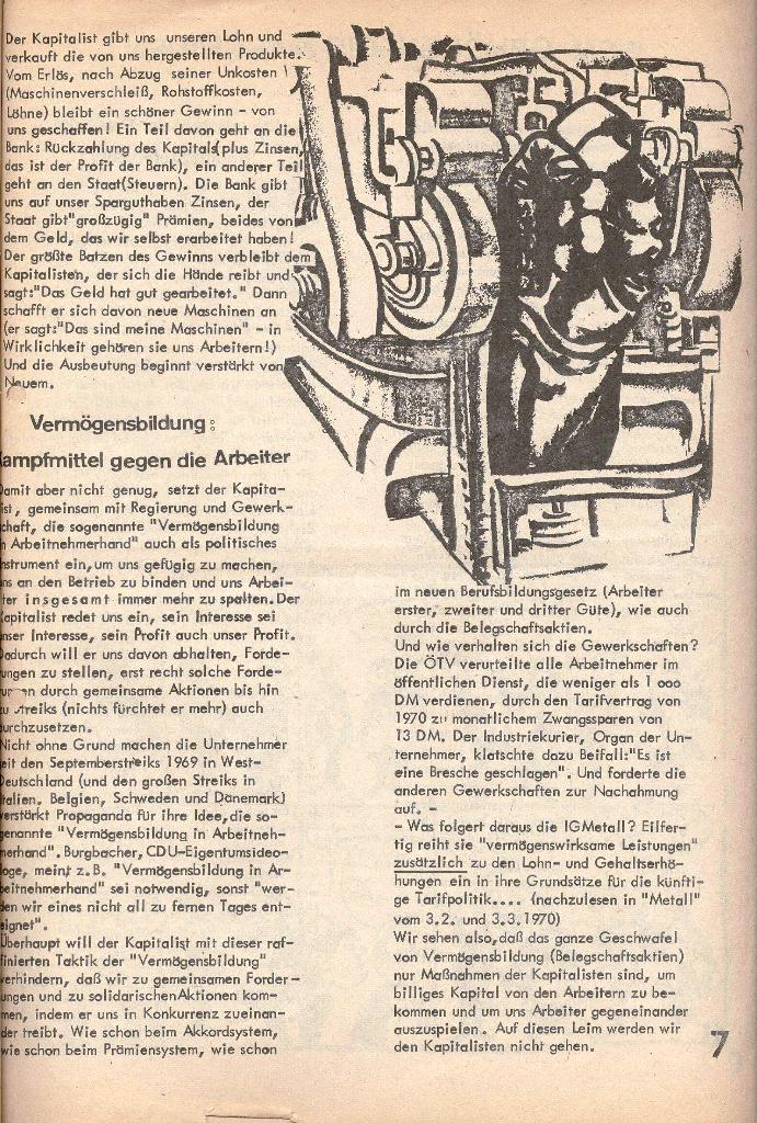 Die Sache der Arbeiter, Nr. 2, März/April 1970, Seite 7