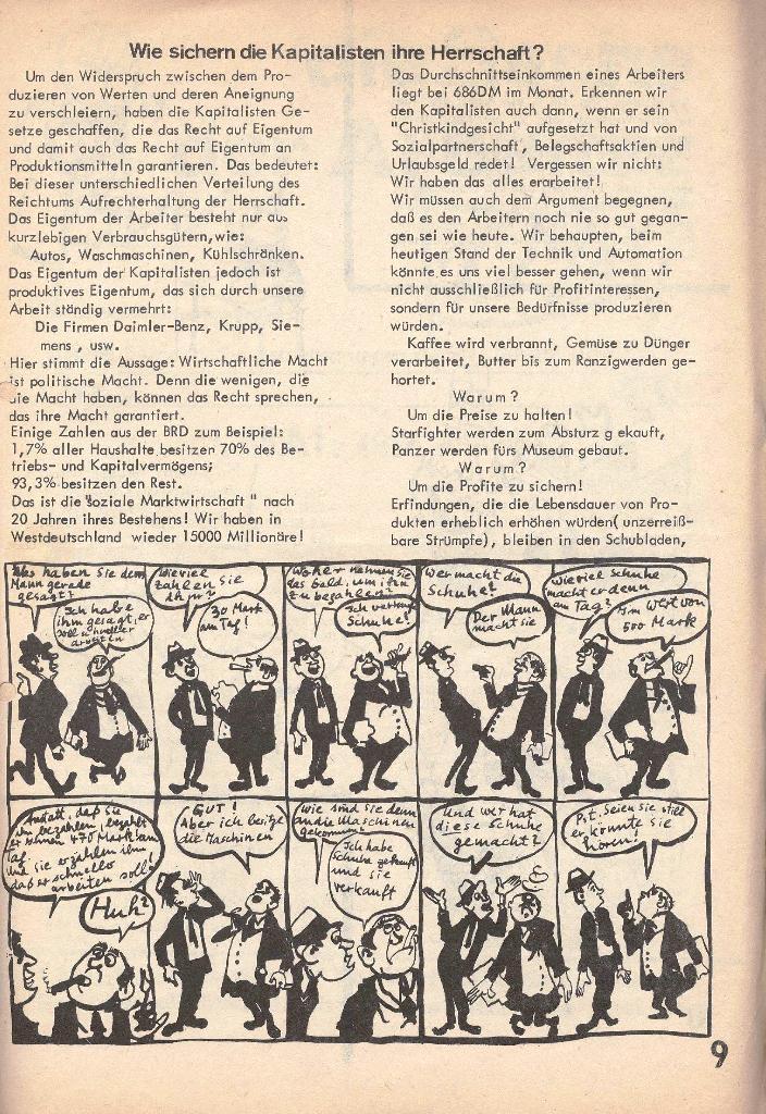 Die Sache der Arbeiter, Nr. 2, März/April 1970, Seite 9