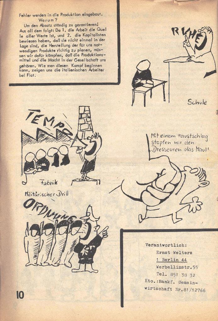 Die Sache der Arbeiter, Nr. 2, März/April 1970, Seite 10