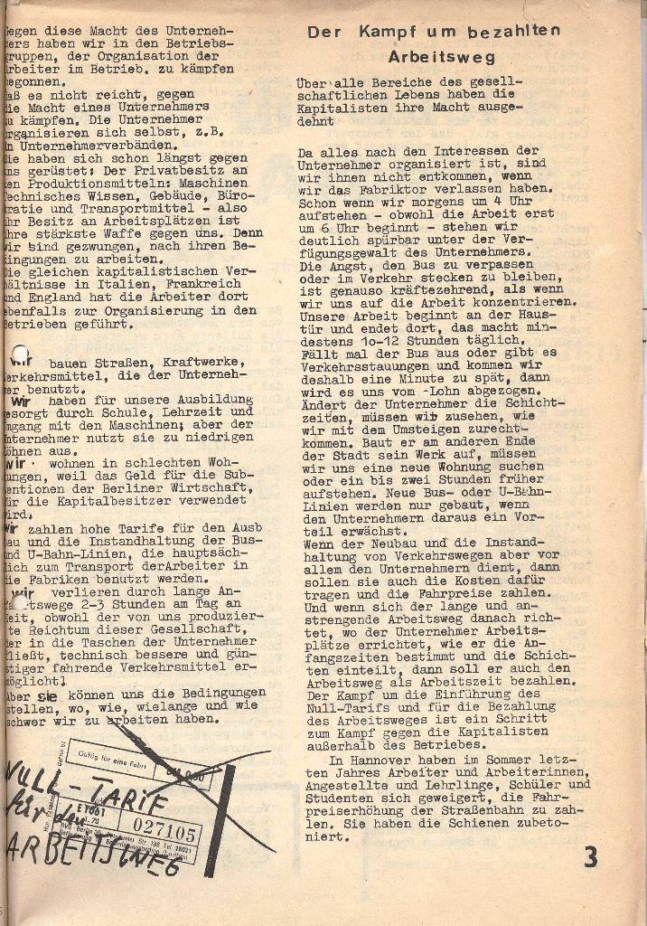 Die Sache der Arbeiter, Nr. 3, Mai 1970, Seite 3