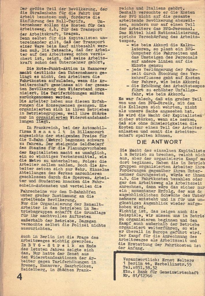 Die Sache der Arbeiter, Nr. 3, Mai 1970, Seite 4