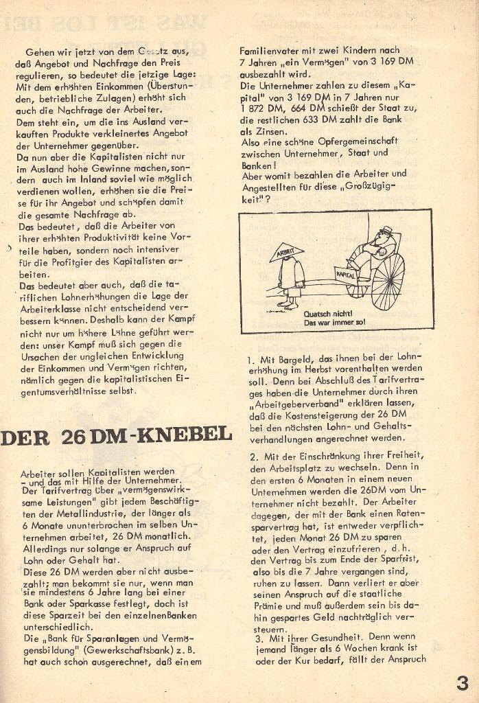 Die Sache der Arbeiter, Nr. 4, Juni/Juli 1970, Seite 3