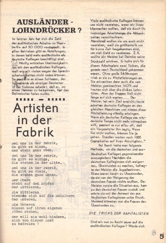 Die Sache der Arbeiter, Nr. 4, Juni/Juli 1970, Seite 5