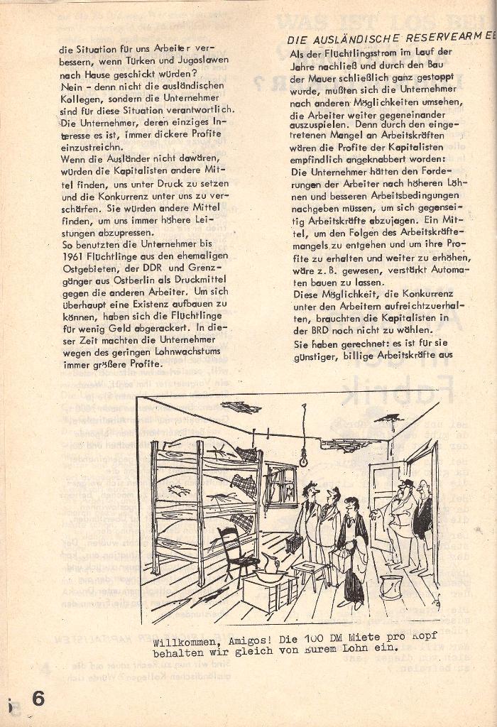 Die Sache der Arbeiter, Nr. 4, Juni/Juli 1970, Seite 6