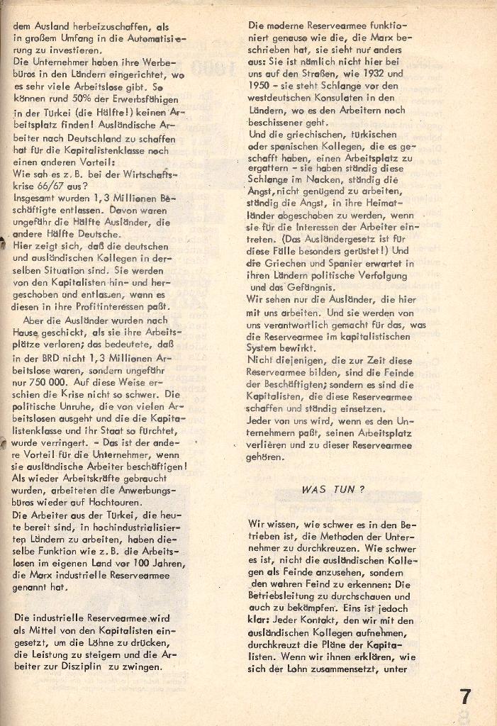 Die Sache der Arbeiter, Nr. 4, Juni/Juli 1970, Seite 7