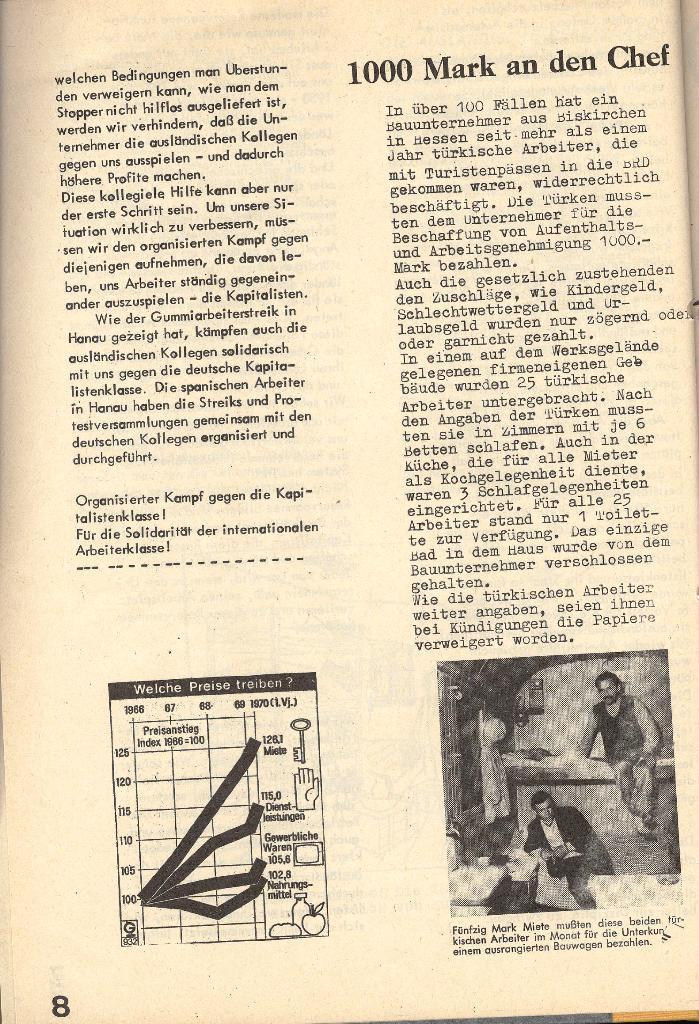 Die Sache der Arbeiter, Nr. 4, Juni/Juli 1970, Seite 8