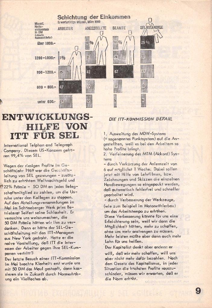 Die Sache der Arbeiter, Nr. 4, Juni/Juli 1970, Seite 9
