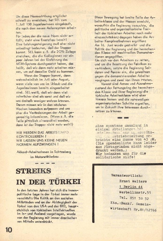 Die Sache der Arbeiter, Nr. 4, Juni/Juli 1970, Seite 10