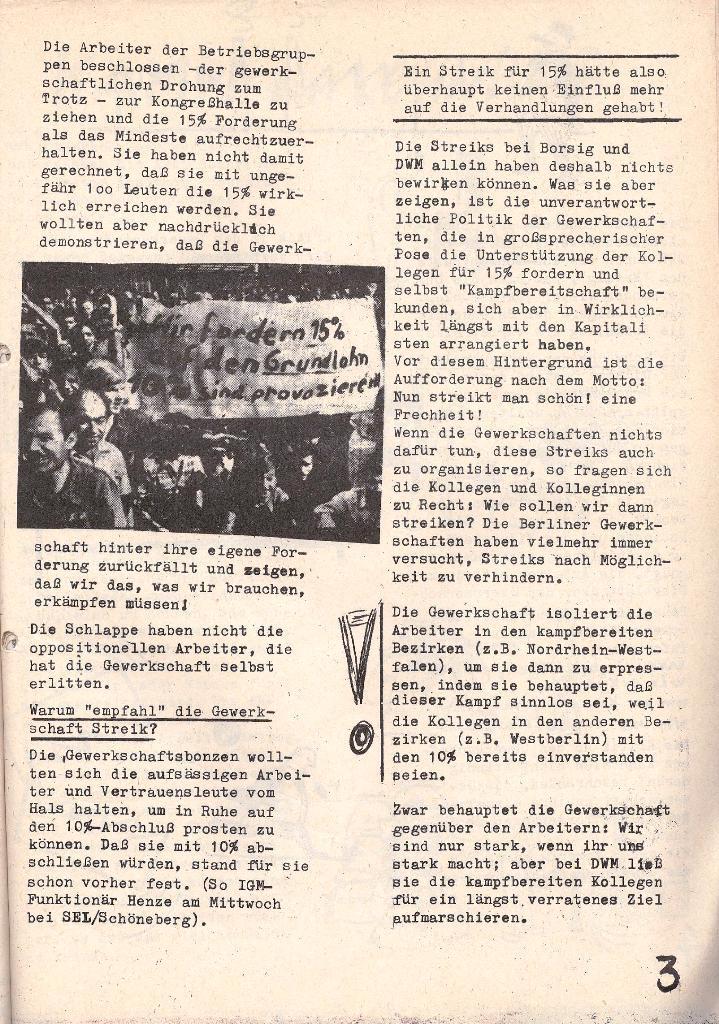 Die Sache der Arbeiter, Nr. 5, Aug./Sept. 1970, Seite 3