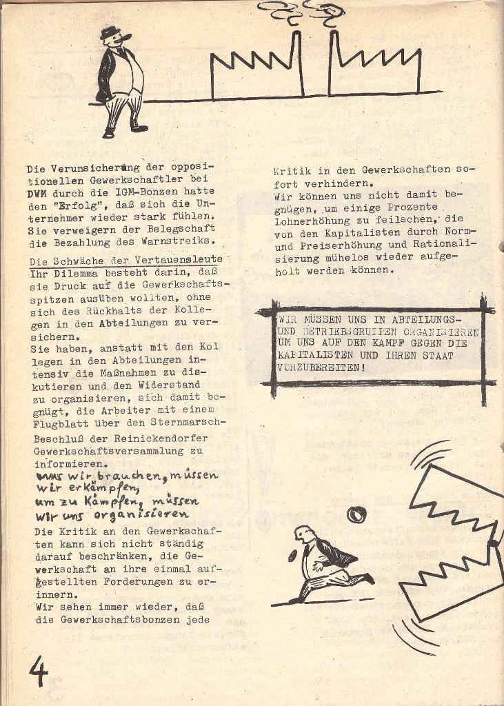 Die Sache der Arbeiter, Nr. 5, Aug./Sept. 1970, Seite 4